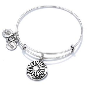 Alex and Ani Silver Tone Flower Daughter Bracelet.